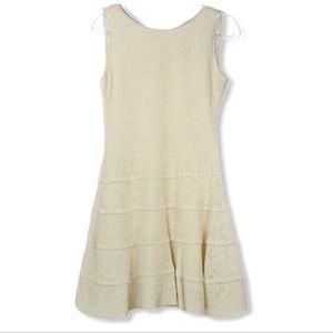 🌼Zara sleeveless knit woven fit and flare dress